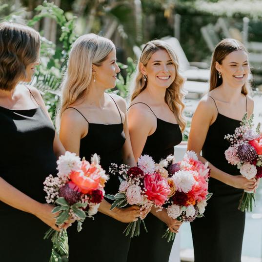 Modern Wedding Bridal Party