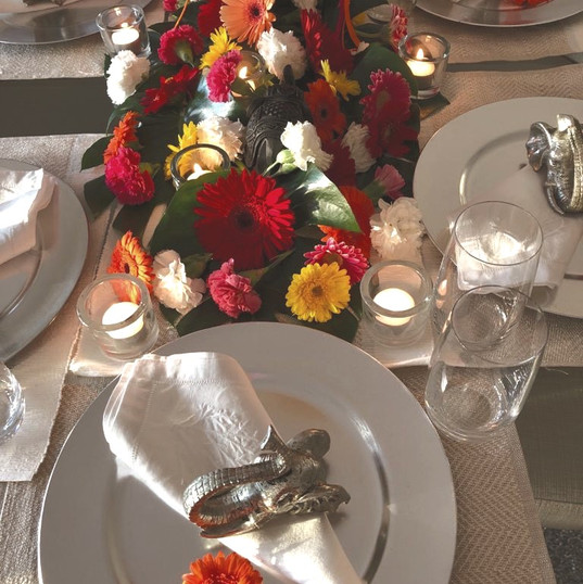 Bright Floral Dinner Party