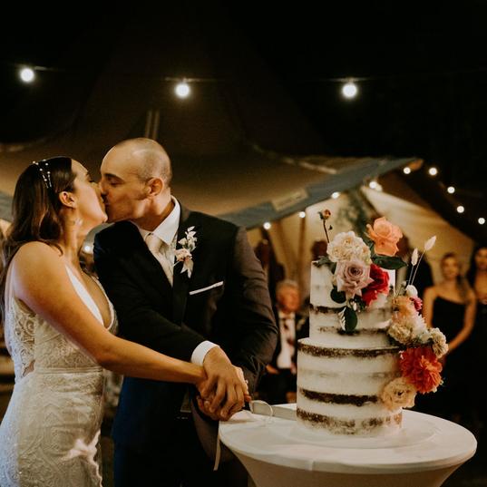 Modern Wedding Cake Cutting