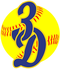 3D Softball Logo