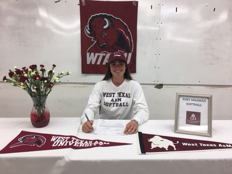 Ruby Salzman Commits to West Texas A&M