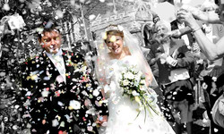 confetti wedding photography