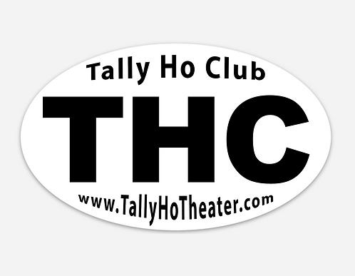 """THC Sticker 5""""x3"""""""