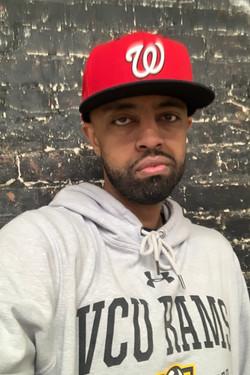 Rapper Abel Meri in the studio for a rec