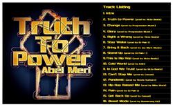 Abel Meri Truth to Power Track Listing