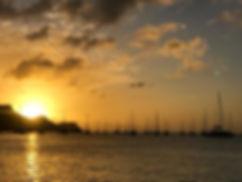 Solnedgang i karibien