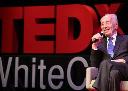 President Shimon Peres During TEDxWhiteCity in Tel Aviv
