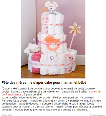 diaper cake frenchmaman femme actuelle