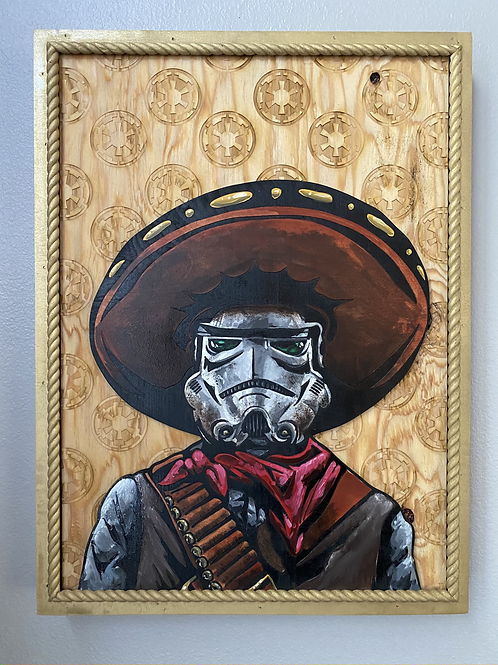 Space Cowboy Painting