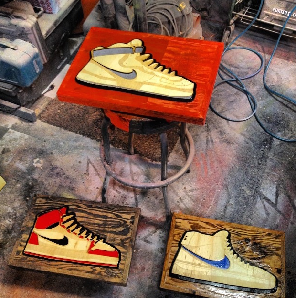 Classic Kicks in wood