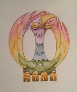 Skull - Bird of Good Fortune