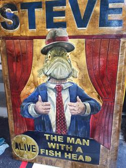 STEVE - The fish headed man