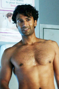 If you want to hold on to your chest hair, then keep it neatly trimmed/clippered. (Photo - Sendhil Ramamurthy in Covert Affairs, USA Network).