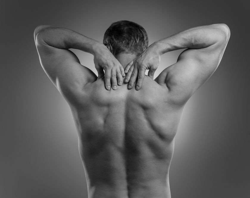 Back waxing also shows off muscle definition.