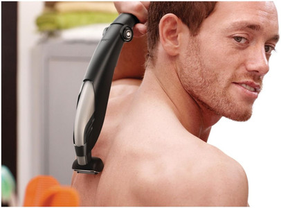 Shaving one's back hair is not an easy task! Photo courtesy; Philips.co.uk