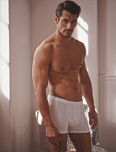 David Gandy wears boxer shorts from M&S' Autograph collection.