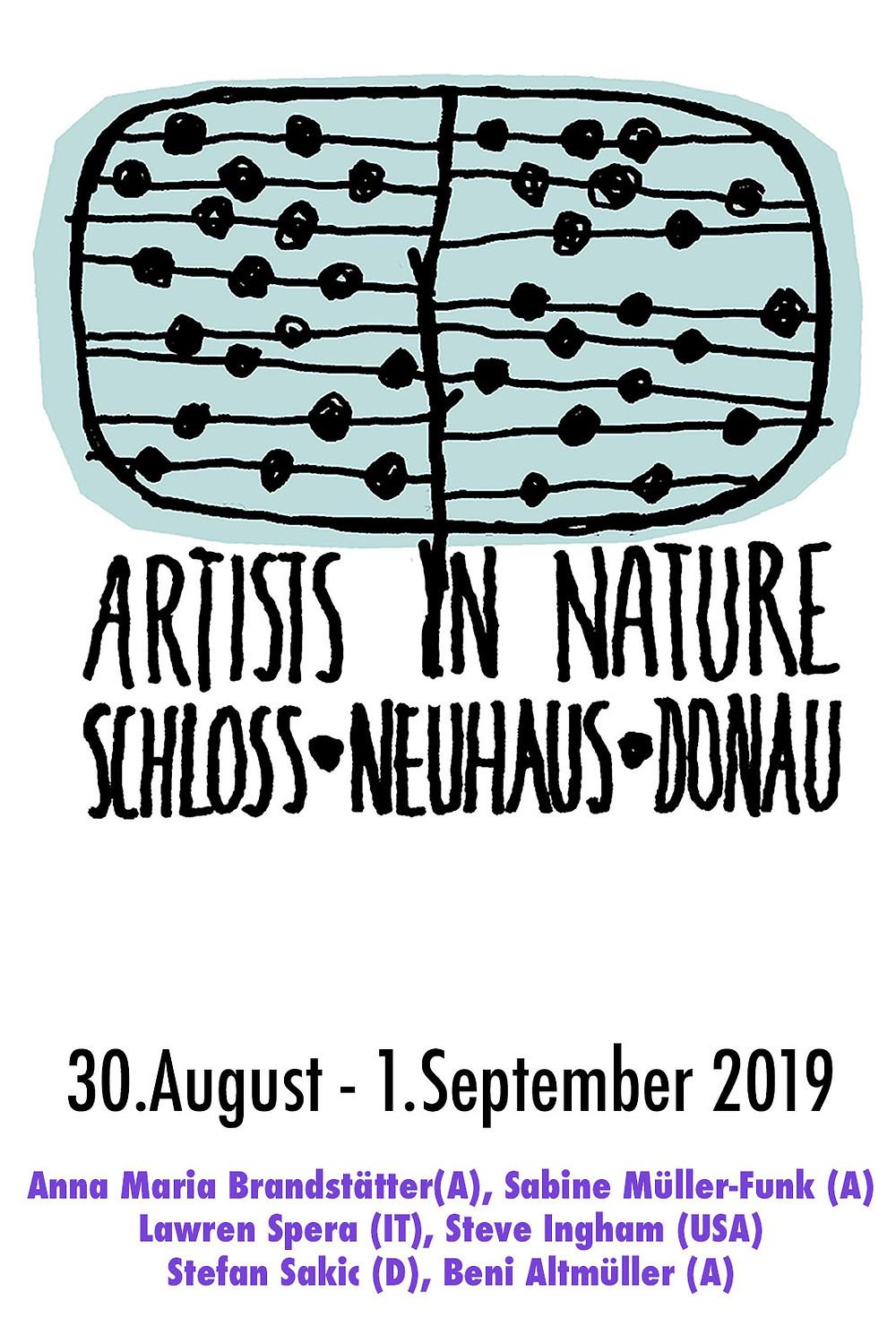 Es ist bald soweit: Beim Schloss Neuhaus/Donau werden 6 Internationale Künstler in der Natur arbeiten....Es wird sehr spannend