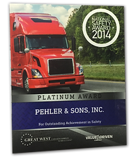 Pehler Trucking Award Winning Transportation Company
