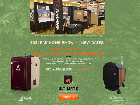 BIOMASS & SUSTAINABLE LIVING being presented at the Home Show 2021 Rochester MN