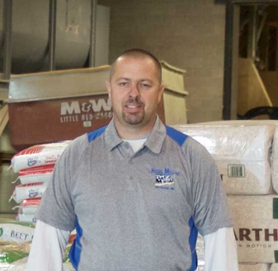 Travis Thompson Owner of Hegg Mill Ettrick WI serving the community with animal nutrition, feed and farm supplies