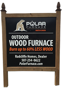 ULTIMATE OUTDOOE FURNACE Sign Stewartville MN