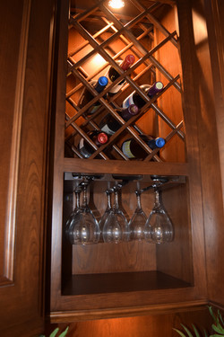 Wood Stemware Holder and Wine Rack