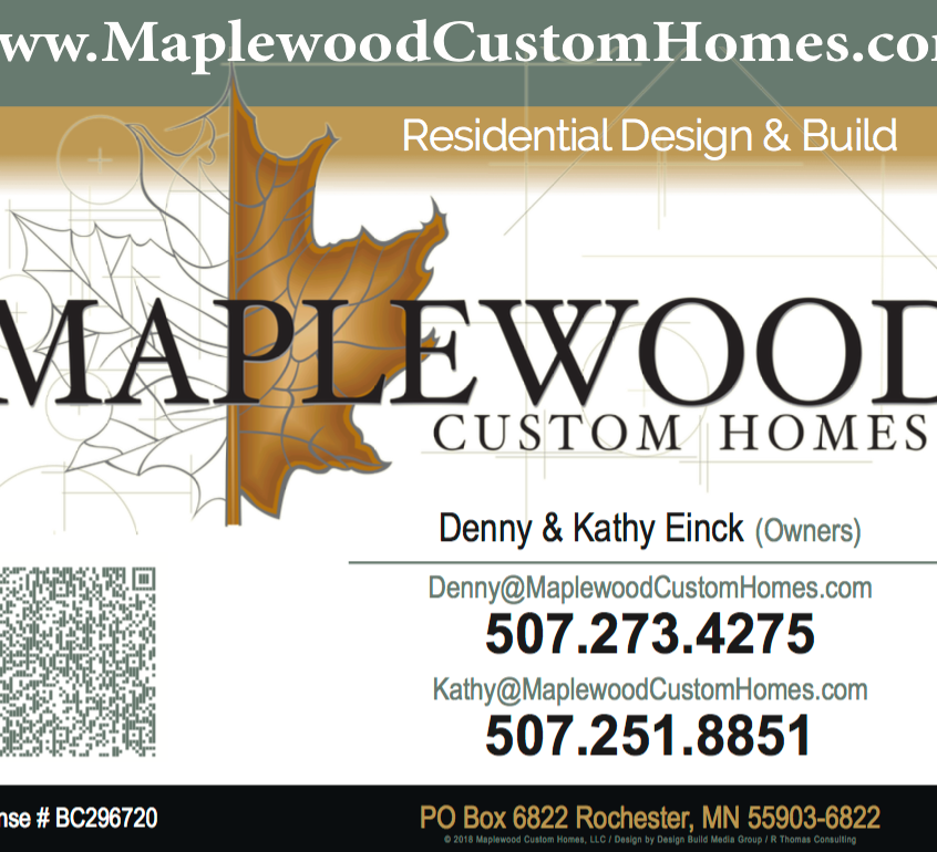 Contact Maplewood Custom Homes Roche