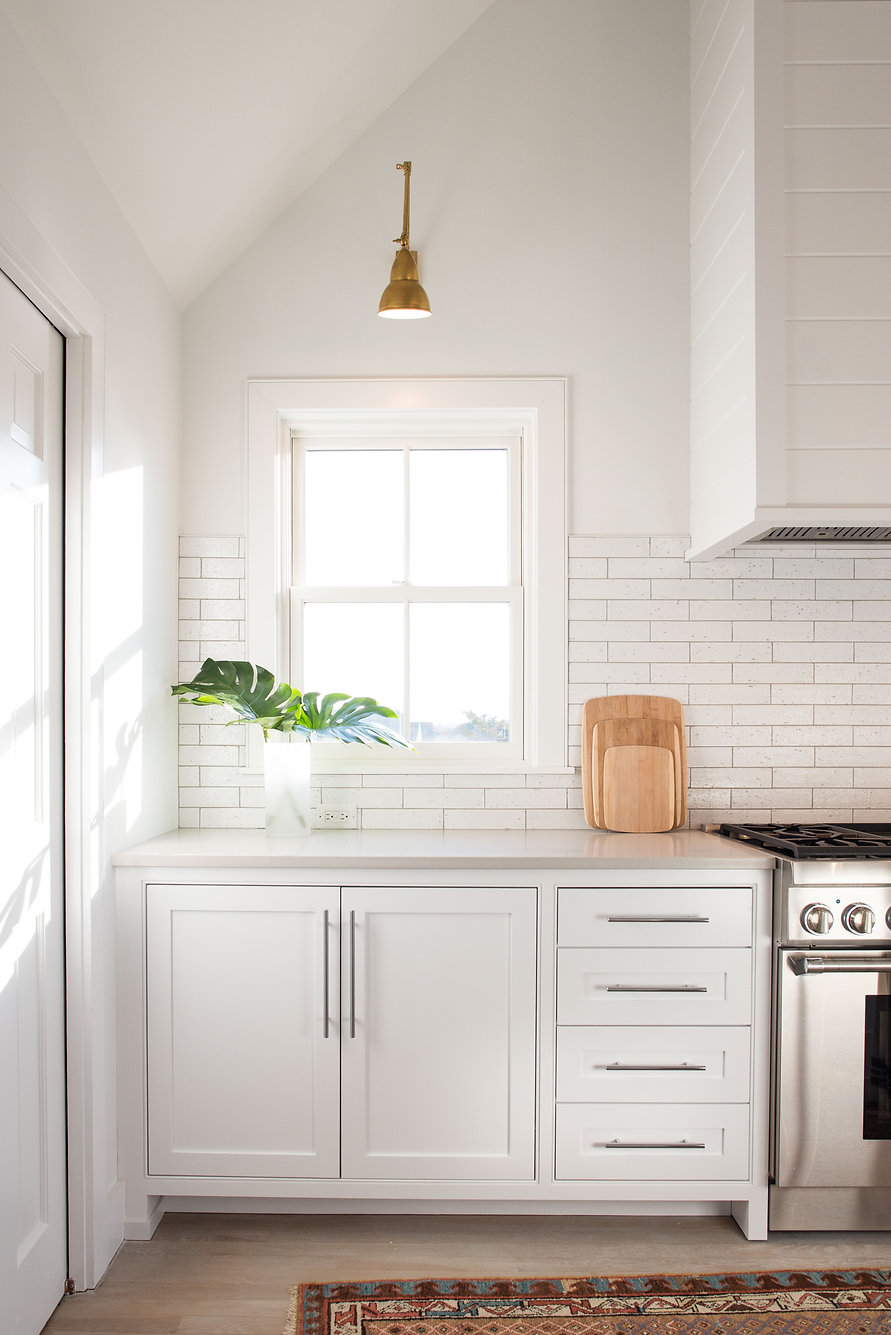 white kitchen tile