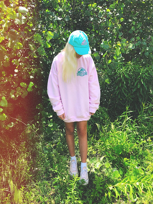 DINO CLUB - OVERSIZED CREWNECK ROSE