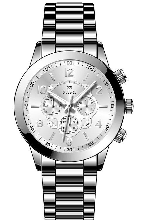 Silvery FAVO Watch