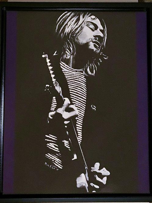 Kurt Framed Canvas Print Purple