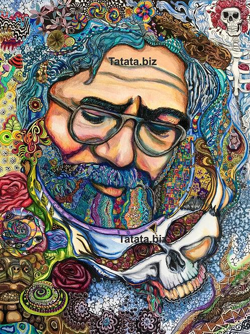 Jerry (Zentangle) Canvas Print - Framed