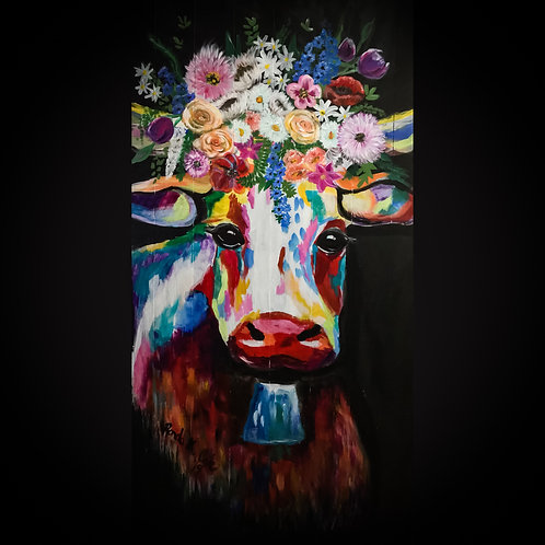 BoHo Fleur Cow Print