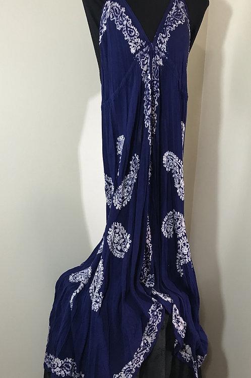 Handkerchief Long Batik Dress With Paisley