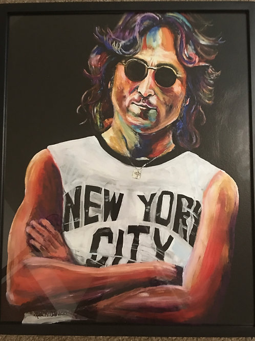 Framed Canvas John
