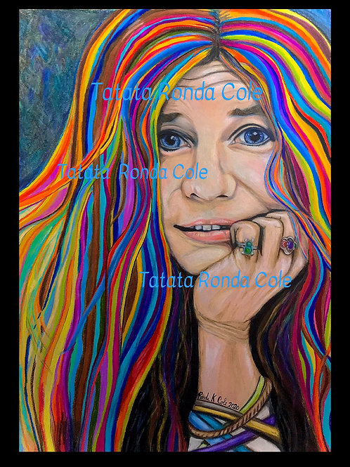 Framed Janis Colored Pencil J1 Print