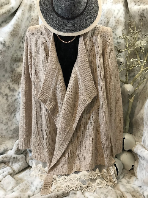 Lace Sand Cozy Cardigan