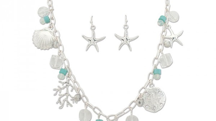 Periwinkle Sea Charm Necklace