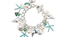 Periwinkle Sea Charm Bracelet
