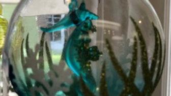 Seahorse Scene Ornament