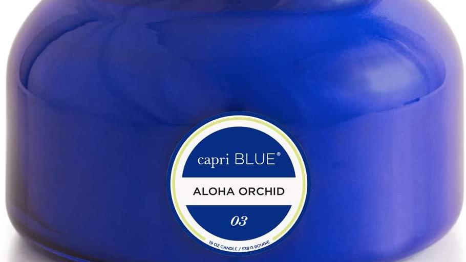 Capri Blue Glass Jar Candle Aloha Orchid 19 oz