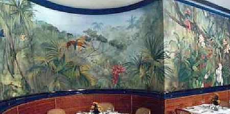 Rio Atlântico Palace Hotel,  Rio de Janeiro, Brazil, peintures décoratives, decorative paintings, Odile Dardenne, odiledardenne.com, trompe-l'oeil,
