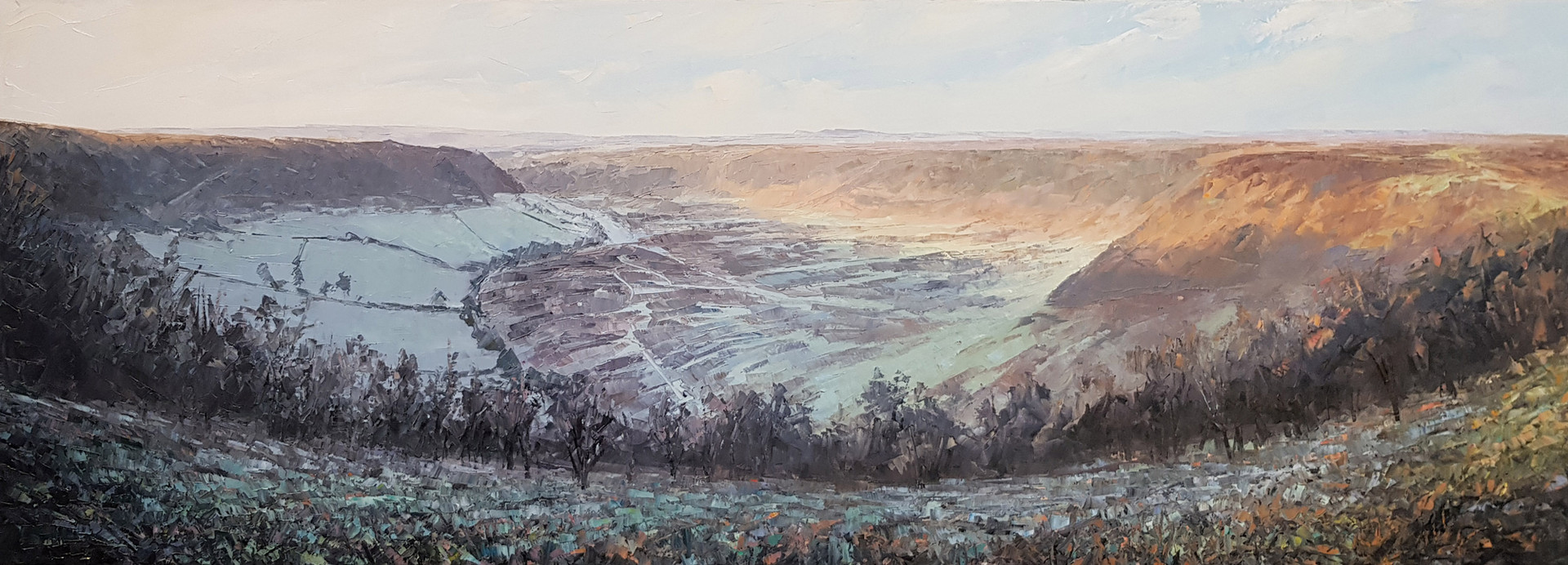Hole of Horcum in the frost