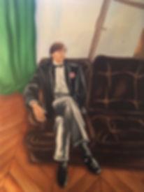 Eric, rue Lhomond, portrait, lisbon, portugal, painting, portrait painting