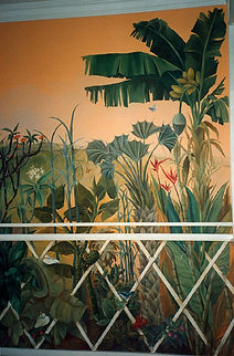 Fresco, Ipanema, Rio de Janeiro, Brazil, peintures décoratives, decorative paintings, Odile Dardenne, odiledardenne.com, trompe-l'oeil,
