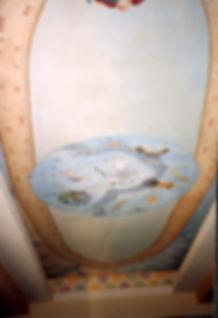 Ceilling in trompe-l'oeil, Recife, Boa Viagem, Pernambuco, Brazil, peintures décoratives, decorative paintings, Odile Dardenne, odiledardenne.com, trompe-l'oeil,