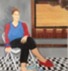 Odile1985, autoportrait, portrait, lisbon, portugal, painting, portrait painting, selfportrait,