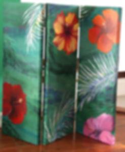 Geribapaintings - Odile Dardenne - Odile Tardieux - Hand Painted furniture - painted fabric -Geribapaintings - Odile Dardenne - 