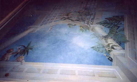 Angel Ceiling, Rio de Janeiro, Brazil, peintures décoratives, decorative paintings, odile dardenne, odiledardenne.com, trompe-l'oeil,