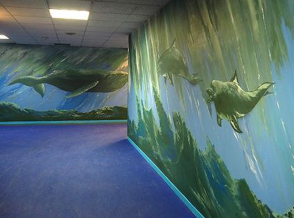 Geribapaintings - Odile Dardenne - Forest Hill Aquatic Park Aquaboulevard - Paris - France